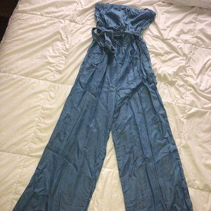 Cambray Strapless Maxi Romper (Never Worn!)